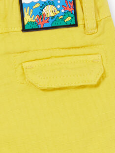 Shorts gialli neonato LUVIBER2 / 21SG10U3BERB115