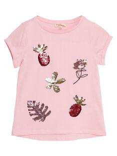 T-shirt maniche corte, paillettes magiche frutto e fiore JADUTI1 / 20S901O1TMC321