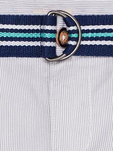 Pantaloni da cerimonia bambino a righe sottili grigie JOPOEPAN / 20S902G1PAN940