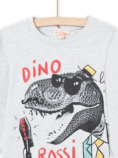 T-shirt grigio melange bambino MOJOTEE1 / 21W90228TMLJ920