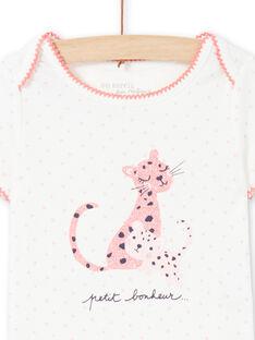 Body ecrù e rosa neonata MEFIBODCAL / 21WH13B2BDL001