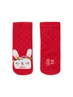 Calze rosse a pois con motivo coniglio neonato LYIHACHOB / 21SI09X1SOQ505