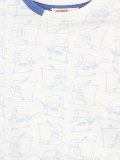 T-shirt maniche lunghe in jersey neonato GUBLATEE2 / 19WG10S2TML001