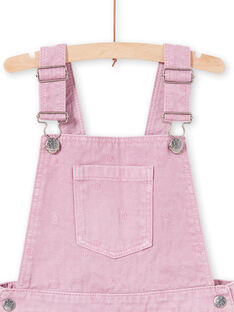 Abito salopette in jeans glicine a pois bambina MAPAROB3 / 21W901H3ROBH709