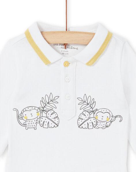 Body bianco con colletto stile polo neonato LOU1BOD5 / 21SF04H1BOD000