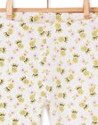 Leggings bianchi, gialli e rosa neonata LYIBALEG / 21SI09O1CAL000