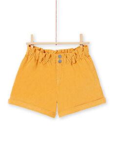 Shorts a vita alta senape bambina MAMIXSHORT / 21W901J1SHOB106