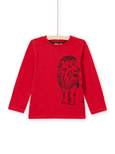 T-shirt rossa bambino MOJOTEE7 / 21W902N2TML505