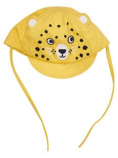 Cappello giallo neonato tigre ricamata JYUTROCASQ / 20SI10F2CHAB114