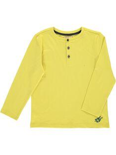 Boys' long-sleeved grandad collar T-shirt DOJOTUN2 / 18W90235D32605