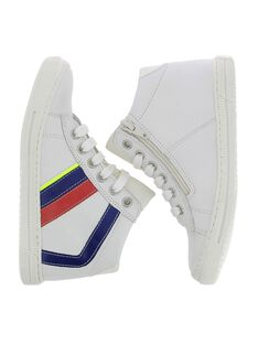 Boys' leather high top trainers CGBASSTAB / 18SK36W1D3F000