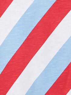T-shirt bambino maniche corte a righe tricolore diagonali JOCEATI1 / 20S902N1TMC000
