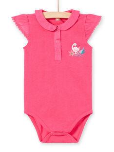 Body rosa con motivi fantasia neonata LIBONBOD / 21SG09W1BOD302