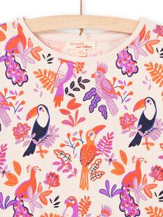 T-shirt maniche lunghe motivi uccelli colorati bambina MAPATEE / 21W901H1TMLD319