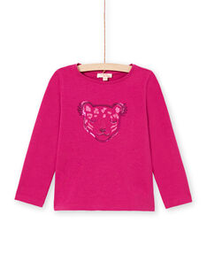 T-shirt rosa scuro bambina MAJOYTEE7 / 21W90123TMLD312