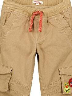 Pantaloni cargo con fodera in pile Nocciola GOVIOPAN2 / 19W902R2PANI804