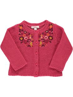 Girls' wool cardigan DIPINCAR / 18WG09P1CAR302