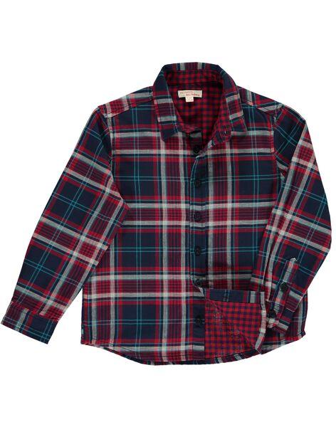 Boys' checked shirt DOTRICHEM / 18W902D1CHMC205