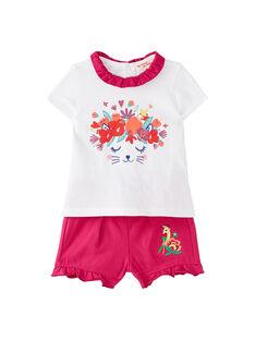 Completo t-shirt e shorts neonata JIMARENS2 / 20SG09P2ENS000