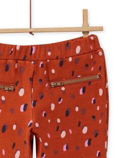 Pantaloni imbottiti con stampa coriandoli bambina MACOMPANT / 21W901L1PAN420