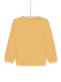 T-shirt senape bambino MOMIXTEE3 / 21W902J5TMLB101