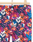 Leggings con stampa a fiori colorata neonata MYIPALEG1 / 21WI09H2CALD319