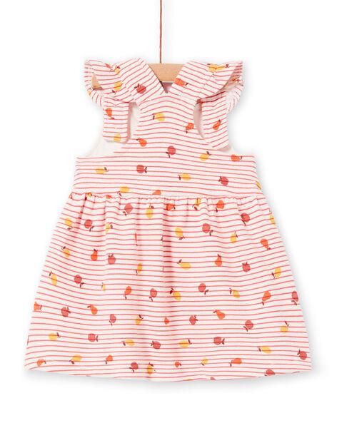 Abito rosa e arancione a righe neonata LINAUROB2 / 21SG09L1ROB318