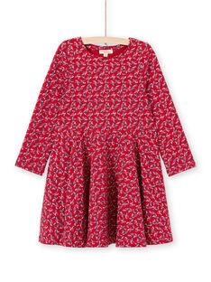 Abito rosso stampa a fiori bambina MAMIXROB3 / 21W901J1ROB511