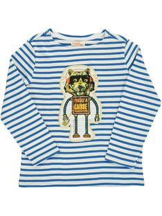 Boys' long-sleeved T-shirt DOBLETEE3 / 18W90293TMLA001