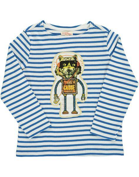Boys' long-sleeved T-shirt DOBLETEE3 / 18W90293TMLA001