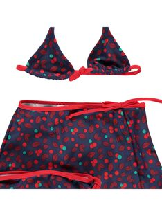 Girls' three-piece swimsuit CYABIK2 / 18SI0182MAI099
