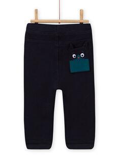 Pantaloni sportivi blu notte neonato MUTUPAN2 / 21WG10K2PANC234