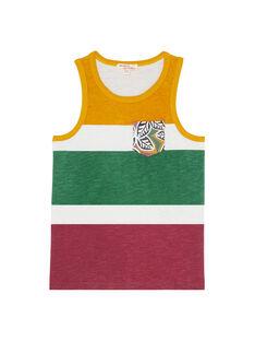 Canottiera bambino con stampa tricolore JODUDEB / 20S902O1DEB001