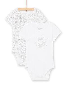 Set 2 body bianchi nascita bambino LOU2BOD1 / 21SF04I1BOD000