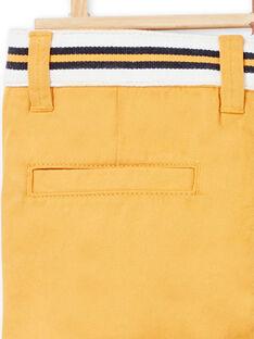 Pantaloni gialli bambino LOJAUPAN / 21S902O1PAN107