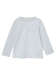T-shirt maniche lunghe bambino grigio melange JOESTEE3 / 20S90261D32J922