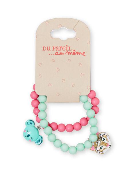 Bracciale con perline rosa bambina LYAVERBRA / 21SI01E1BRC318