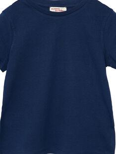 T-shirt maniche corte bambino tinta unita navy JOESTI2 / 20S90261D31070