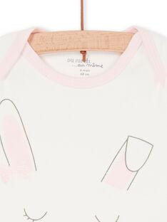 Body ecrù e rosa neonata LEFIBODLAP / 21SH13G6BDL001
