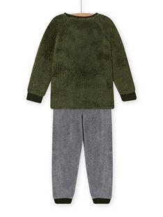 Set pigiama motivo lupo in soft boa bambino MEGOPYJBOA / 21WH1294PYJ628