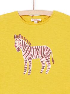 T-shirt a maniche corte, stampa zebra con glitter LAJOTI11 / 21S901F9D31G606