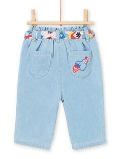 Jeans neonata con cintura LICANPAN / 21SG09M1PANP272