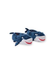 Pantofole blu squalo 3D bambino MOPANTREQ3D / 21XK3631PTD715
