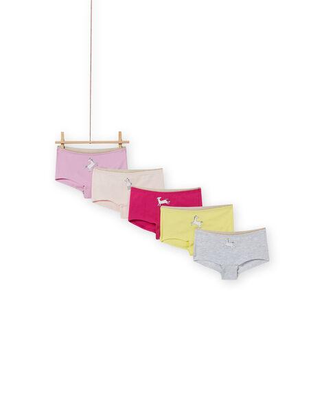 Set 5 culotte colorate abbinate bambina MEFAHOTSEM / 21WH11B3SHY943