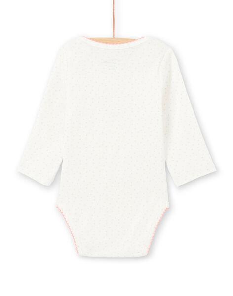 Body bianco maniche lunghe motivi conigli rosa neonata MEFIBODAMO / 21WH13B8BDL001
