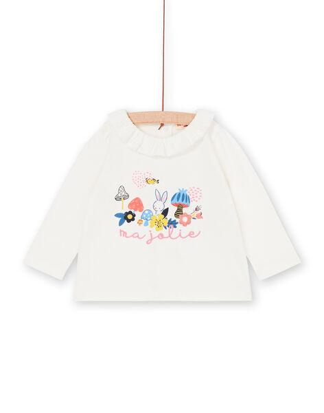 T-shirt ecrù neonata LIHABRA / 21SG09X1BRA001