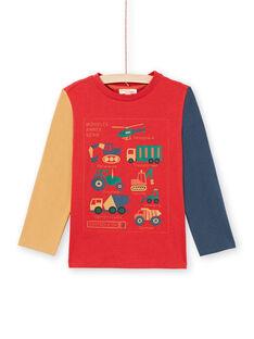 T-shirt rossa e arancione bambino MOCOTEE4 / 21W902L3TMLF521