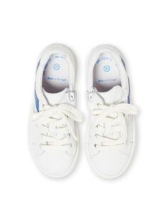 Sneakers bianche e blu bambino LGBASLUCAS / 21KK3634D3F000