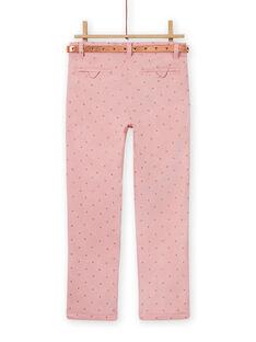 Pantaloni rosa antico a pois bambina MASAUPANT2 / 21W901P1PAN303