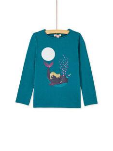 Dark Turquoise T-SHIRT KAECOTEE4 / 20W901H2TMLC217